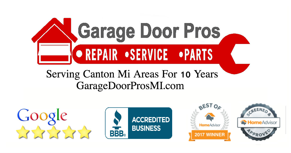 Canton mi garage doors repair install openers for Door pros