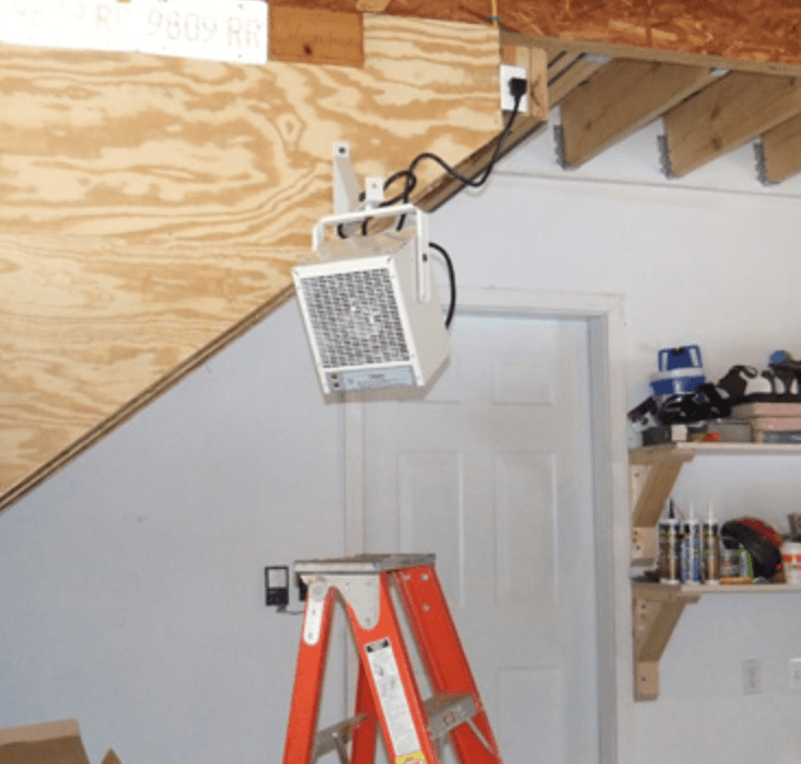 Installation of Garage Door Heating Element